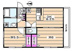 ハイムA[2階]の間取り
