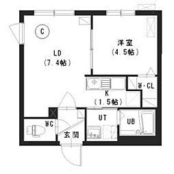 Retaraひばりが丘 (新築:厚別南1B MS) 4階1LDKの間取り