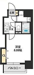 Dwelling ASAHI 6階1Kの間取り