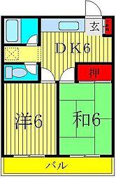 谷川第一マンション[306号室]の間取り