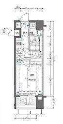 ZOOM横浜関内 11階1Kの間取り