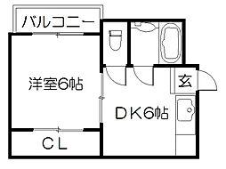 サンシャイン京都[303号室]の間取り