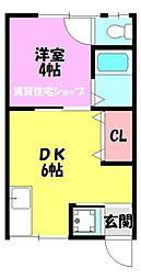 コーポ有楽3[2階]の間取り