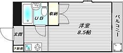 大阪府吹田市山手町4丁目の賃貸マンションの間取り