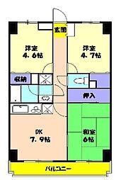 ラ・フォレ薬円台[603号室]の間取り