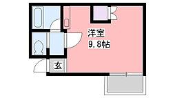 ステージ香枦園[3階]の間取り