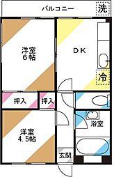 石川第一マンション[301号室]の間取り