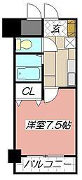 ルネッサンスTOEI田町[201号室]の間取り