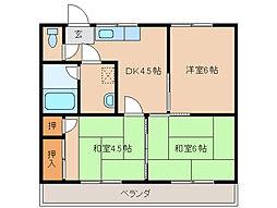 安塚ハイツ[2階]の間取り
