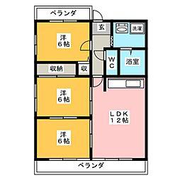杉山マンション[2階]の間取り