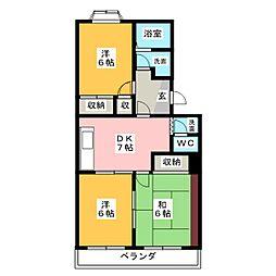 第二エステート富士[1階]の間取り