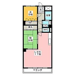レスポアール豊岡[2階]の間取り