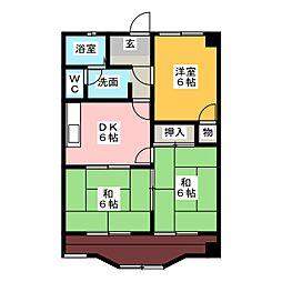 石川ハイツ1[2階]の間取り
