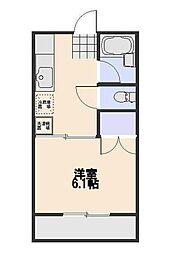 シャトレ小平[107号室]の間取り