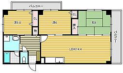 ボー・ドミール南茨木[2階]の間取り