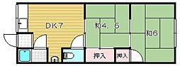 マンション本井A棟[1階]の間取り