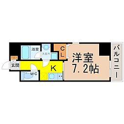 プレミアム黒川[8階]の間取り