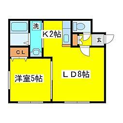 北海道札幌市東区北十三条東15丁目の賃貸マンションの間取り