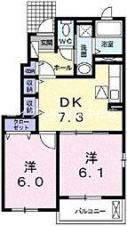 アンジュ.K[1階]の間取り