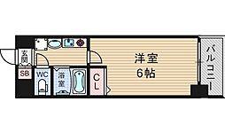 エステムコート難波サウスプレイス[2階]の間取り