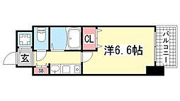 プレサンス神戸駅前[7階]の間取り