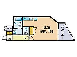 レジディア博多[11階]の間取り