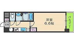プレサンス梅田北オール 6階1Kの間取り