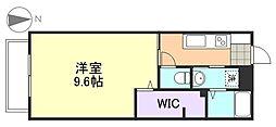 コーポワイスリーA棟[1階]の間取り