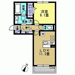 ハイドンホーフ[305号室号室]の間取り