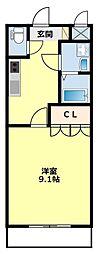 愛知県豊田市西岡町西山の賃貸アパートの間取り