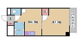 兵庫県神戸市中央区日暮通6丁目の賃貸マンションの間取り