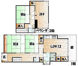 [一戸建] 福岡県北九州市戸畑区天神2丁目 の賃貸【/】の間取り