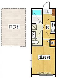 PACIFIC OCEAN KOZU[A1号室号室]の間取り
