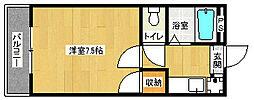 京都府京都市上京区革堂町の賃貸マンションの間取り