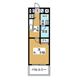 ラ・ヴィ・アン・ローズ[4階]の間取り