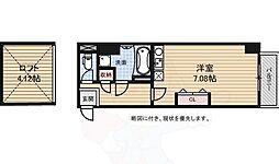 アスティエ渋谷松涛 4階ワンルームの間取り