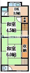 [一戸建] 大阪府東大阪市長堂2丁目 の賃貸【/】の間取り