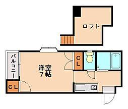 メゾンアバ[2階]の間取り