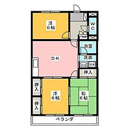 マンション槐[3階]の間取り