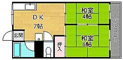 マンション香楽[1階]の間取り