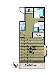 第7矢沢ビル[3階]の間取り