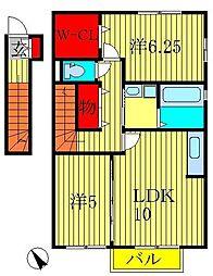 プランドールC棟[2階]の間取り