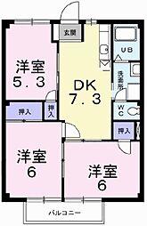 ニューシティ田口[1階]の間取り