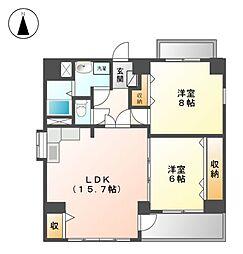 第2清和ビル[2階]の間取り