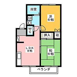 エステートピア三澤B[2階]の間取り