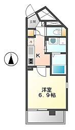 ケーマンションつるまいII[7階]の間取り