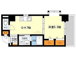 シーナリ江坂[5階]の間取り