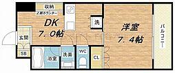 ジリオ大阪城南[203(C)号室]の間取り