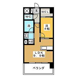 プレミア ステーション 西口[7階]の間取り