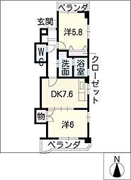 シャルム緑[3階]の間取り